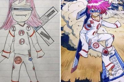Animatör Baba, Oğullarının Çizimini Ele Alırsa 2
