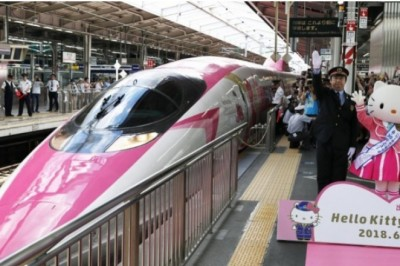 Hello Kitty Tasarımlı Hızlı Tren